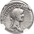 Ancients:Roman Republic, Ancients: Cleopatra VII of Egypt and Marc Antony, rulers of the East (37-31 BC). AR denarius (18mm, 3.64 gm, 2h)....