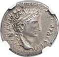 "Ancients:Roman Imperial, Ancients: Augustus (27 BC-AD 14). AR barbaric ""denarius"" (18mm,3.51 gm, 4h)...."