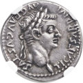 Ancients:Roman Imperial, Ancients: Tiberius (AD 14-37). AR denarius (19mm, 3.60 gm, 5h)....