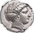 Ancients:Greek, Ancients: LUCANIA. Metapontum. Ca. 400-375 BC. AR stater (22mm, 8.03 gm, 2h)....