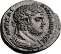 Ancients:Roman Provincial , Ancients: PHOENICIA. Tyre. Caracalla (AD 198-217). AR tetradrachm(26mm, 14.61 gm, 12h)....