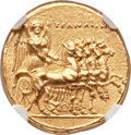 Ancients:Greek, Ancients: CYRENAICA. Cyrene. Ophellas, Ptolemaic Governor (ca. 322/1-308 BC). AV stater (18mm, 8.61 gm, 11h)....