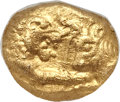 Ancients:Greek, Ancients: LYDIAN KINGDOM. Croesus (ca. 560-546 BC). AV sixth-stater or hecte (8mm, 1.34 gm)....