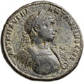 Ancients:Roman Provincial , Ancients: THRACE. Philippopolis. Elagabalus. AD 218-222. Æmedallion (42mm, 39.89 gm, 12h). ...