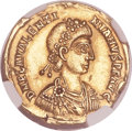 Ancients:Roman Imperial, Ancients: Valentinian III, Western Roman Emperor (AD 425-455). AV solidus (21mm, 4.41 gm, 7h). ...