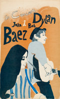 Music Memorabilia:Posters, Joan Baez and Bob Dylan In Concert Stock Poster (1965)....