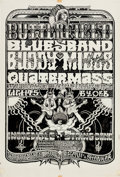Music Memorabilia:Original Art, Butterfield Blues Band/Buddy Miles Fillmore West BG-261 PosterOriginal Art by Norman Orr (Bill Graham, 1970)....