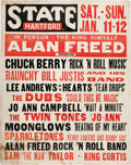 Music Memorabilia:Posters, Alan Freed Rock 'n Roll Show Featuring Chuck Berry Hartford Concert Poster (1958)....