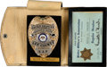 Music Memorabilia:Awards, Elvis Presley Owned Chief Deputy Badge For Lee County Mississippi(1974)....