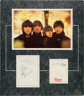 Music Memorabilia:Autographs and Signed Items, Beatles Autographed Display....