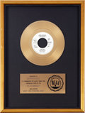 "Music Memorabilia:Awards, John Lennon ""(Just Like) Starting Over"" RIAA Gold Record Award(Geffen 49604, 1980)...."