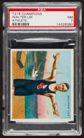 """Olympic Cards:General, 1910 T218 Hassan """"Champion Athletes"""" Walter Lee PSA NM 7. ..."""