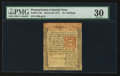 Colonial Notes:Pennsylvania, Pennsylvania March 20, 1771 15s PMG Very Fine 30.. ...