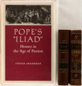 Books:Literature Pre-1900, Alexander Pope, translator. Homer's Iliad. New York: WilliamDurell, 1812. Two twentyfourmo volumes in full contempo... (Total:4 Items)