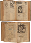 "Movie/TV Memorabilia:Documents, An Orson Welles Pair of Scrapbooks Relating to ""The War of the Worlds"" Radio Broadcast, 1938.... (Total: 2 Items)"