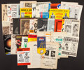 Boxing Collectibles:Memorabilia, 1800's through 1970's Boxing Programs, Flyers and More Lot of 40....
