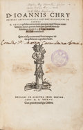 Books:Religion & Theology, [John Chrysostom, Archbishop of Constantinople]. D. IoannisChrysostomi Archiepiscopi Constantinopolitani in Omnes D. Pa...