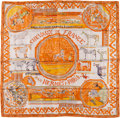 "Luxury Accessories:Accessories, Hermes 90cm Orange & Gray ""Chevaux de France,"" by PhilippeDumas Silk Scarf. ..."
