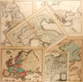 Books:Maps & Atlases, [Maps]. J. Wells, George E. Sherman, et al. Group of Six Maps Depicting Europe. Ca. mid-19th century. Borders hand-colored. ...