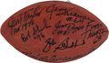 Football Collectibles:Balls, Green Bay Packers Greats Multi Signed Football With Reggie White. ...
