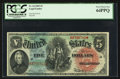 Large Size:Legal Tender Notes, Fr. 64 $5 1869 Legal Tender PCGS Very Choice New 64PPQ.. ...