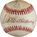 Baseball Collectibles:Balls, Ted Williams and Mickey Mantle Multi Signed Baseball....