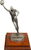 Basketball Collectibles:Others, Kareem Abdul Jabbar Signed Pewter Statue....