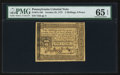 Colonial Notes:Pennsylvania, Pennsylvania October 25, 1775 2s 6d PMG Gem Uncirculated 65 EPQ.....