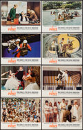 "Movie Posters:Action, In Like Flint (20th Century Fox, 1967). Lobby Card Set of 8 (11"" X14""). Action.. ... (Total: 8 Items)"