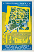 "Movie Posters:Science Fiction, The Incredible Shrinking Man (Universal International, R-1964). OneSheet (27"" X 41"") & Photos (2) (8"" X 10""). Science Ficti...(Total: 3 Items)"