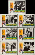 "Movie Posters:Adventure, Our Man Flint (20th Century Fox, 1966). Lobby Cards (7) (11"" X14""). Adventure.. ... (Total: 7 Items)"