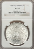 Mexico, Mexico: Republic 8 Reales 1886 Zs-JS MS65 NGC,...