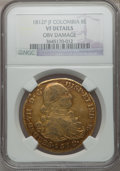 Colombia, Colombia: Ferdinand VII gold 8 Escudos 1812 P-JF,...