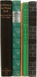 Books:Books about Books, [Limited Editions Club]. Lot of Three Issues of The Dolphin. [New York: Limited Editions Club, various dates]. Volum... (Total: 6 Items)