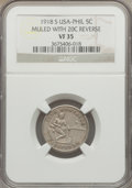 Philippines, Philippines: USA Administration 5 Centavos Mule 1918-S VF35 NGC,...