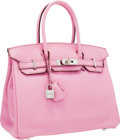 Luxury Accessories:Bags, Hermes 30cm Bubblegum Pink 5P Swift Leather Birkin Bag withPalladium Hardware. ...