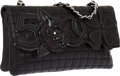Luxury Accessories:Bags, Chanel Black Quilted Lambskin Leather Precious Symbols Evening Bag....