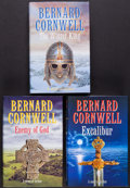 Books:Literature 1900-up, Bernard Cornwell. The Warlord Chronicles Signed Trilogy. All firsteditions. From a private collection in North Carolina....(Total: 3 Items)