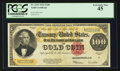 Large Size:Gold Certificates, Fr. 1215 $100 1922 Gold Certificate PCGS Extremely Fine 45.. ...