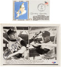 Autographs:Photos, 1958-1979 Mickey Mantle & Whitey Ford Signed Photograph &First Day Cover Lot of 2. ...