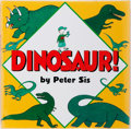 Books:Children's Books, Peter Sis. SIGNED WITH A DRAWING. Dinosaur! New York;Greenwillow, 2000. First edition, Signed by Sis on the verso...