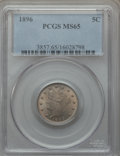 Liberty Nickels, 1896 5C MS65 PCGS....