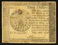 Colonial Notes:Continental Congress Issues, Continental Currency September 26, 1778 $40 Choice About New.. ...