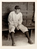 Baseball Collectibles:Photos, Circa 1927 Babe Ruth Original News Photograph by Paul Thompson,PSA/DNA Type 1....