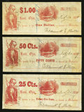 Obsoletes By State:Ohio, Basil, OH- Wildermuth & Miller 25¢; 50¢; $1 July 30, 1859 Wolka0126-04; -05; -06. ... (Total: 3 notes)