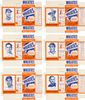 Baseball Cards:Sets, 1951 Wheaties Complete Set (6) - All Mint Unfolded Boxes! ...