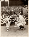 Baseball Collectibles:Photos, 1923 Babe Ruth at Grand Opening of Yankee Stadium News Photograph,PSA/DNA Type 1....