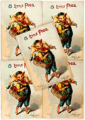 Books:Children's Books, [McLoughlin Bros]. 5 Little Pigs. New York: McLoughlin Bros,1903. Five copies of this charming pamphlet. Illust...