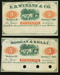 Obsoletes By State:Ohio, Bellaire, OH- Morgan & Kelly 5¢ Jan. 1, 1863 Remainder Wolka0140-01. Bellaire, OH- E.B. Winans & Co. 5¢ Jan. 1, 1863 Re...(Total: 2 notes)