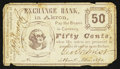 Obsoletes By State:Ohio, Akron, OH- George Sechrist at the Exchange Bank 50¢ Dec., 1862. ...